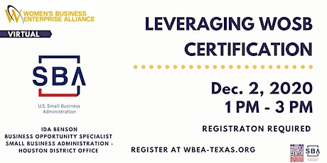Leveraging the WOSB Certification tickets
