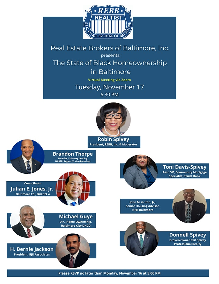 REBB, Inc presents The State of Black Home Ownership in Baltimore image