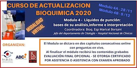 Curso de Actualizacion Bioquimica 2020 - Modulo 4 (28/11 y 5/12) entradas