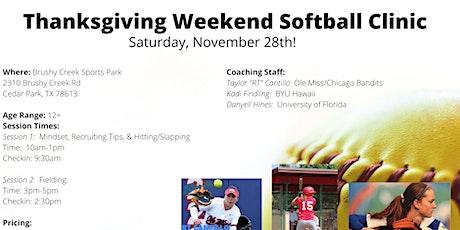 Softball Clinic 12-18yrs  (Greater Austin, TX Area) tickets