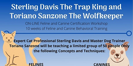 ON-LINE Feline and Canine Certification Workshop | Trapking and Wolfkeeper tickets