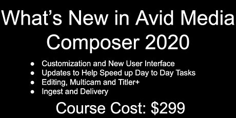 Media Composer 2020 I 1 Day Workshop | December 19th tickets