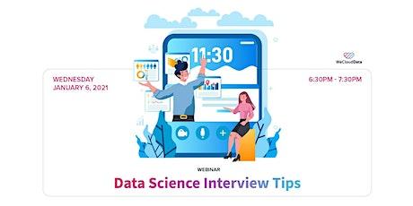 [Webinar] Data Science Interview Tips tickets