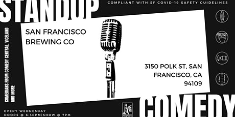 Live Comedy Night at San Francisco Brewing Co.(with Heaters and Distancing) tickets