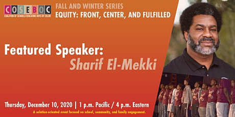 COSEBOC Virtual Equity Series Event with Sharif El-Mekki tickets