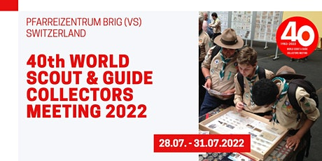 40th World Scout & Guide Collectors Meeting 2022 billets