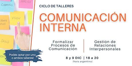 CICLO DE TALLERES DE COMUNICACIÓN INTERNA entradas