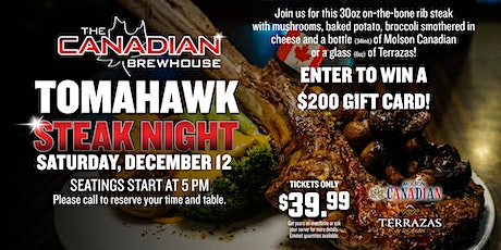 Tomahawk Steak Night (Calgary Harvest Hills) tickets
