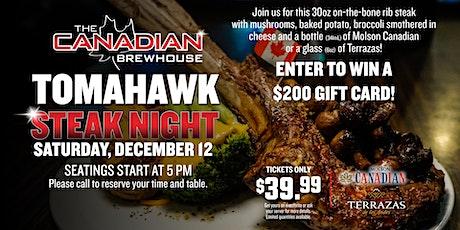 Tomahawk Steak Night (Lloydminster) tickets