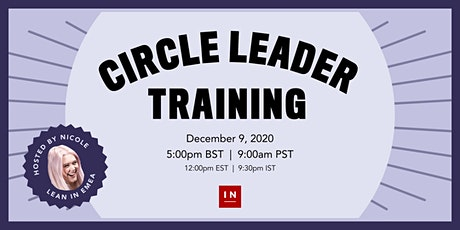 LeanIn.Org Circle Leader Training tickets