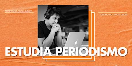 Charla Periodismo 10/12 entradas