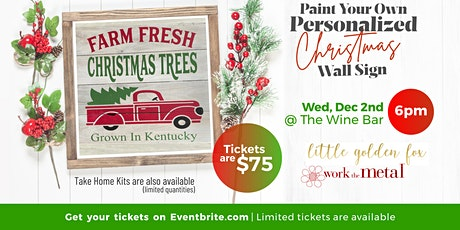 Paint Your Own Personalized Christmas Wall Sign Class tickets