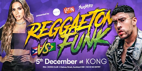 Reggaeton vs Funk | 5 DEC at KONG Club tickets