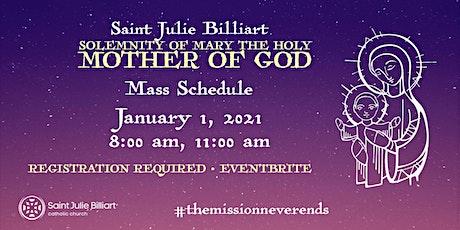 Julie Billiart Church Solemnity of Mary 11:00 am Mass tickets