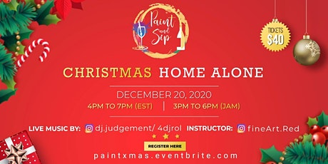Virtual Paint and Sip:  Christmas tickets