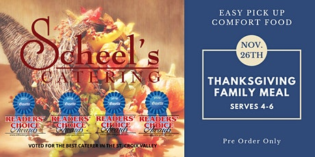 Scheel's Catering Traditional Thanksgiving Curbside Meals tickets