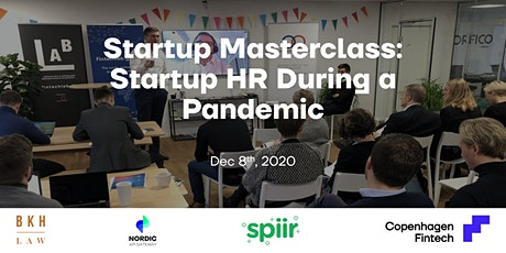 Startup Masterclass: Startup HR During a Pandemic tickets