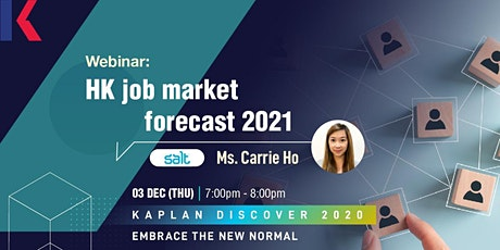 Webinar: Job market forecast 2021 tickets