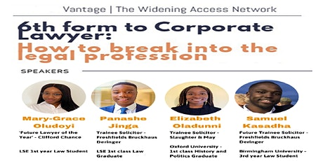 6th Form to Corporate Lawyer: How to break into the legal profession tickets