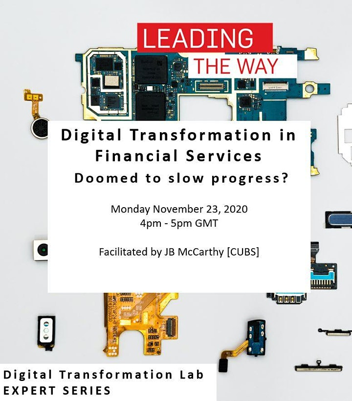 EXPERT SERIES: Digital Transformation in Financial Services image