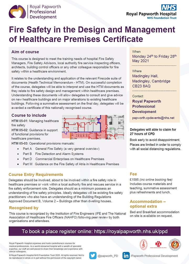 Fire Safety in the Design and Management of Healthcare Premises Certificate image
