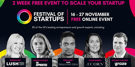 Festival of Startups | Free Online Event | 16-27 November 2020 tickets