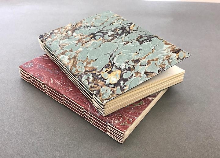 Long-stitch book binding workshop  (online) image