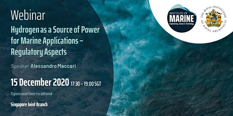 WEBINAR: Hydrogen as a Source of Power for Marine Applications tickets