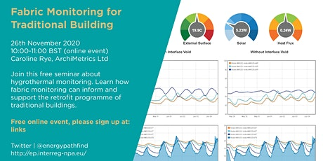 Energy Pathfinder Webinar: Fabric Monitoring for Traditional Buildings tickets
