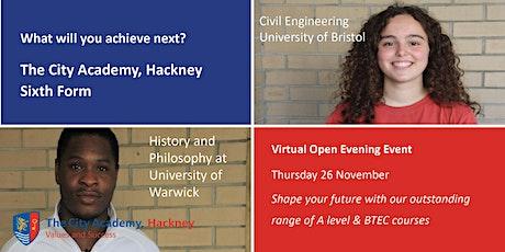 Sixth Form Virtual Open Evening - The City Academy, Hackney tickets
