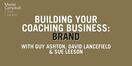Building Your Coaching Business: Brand tickets