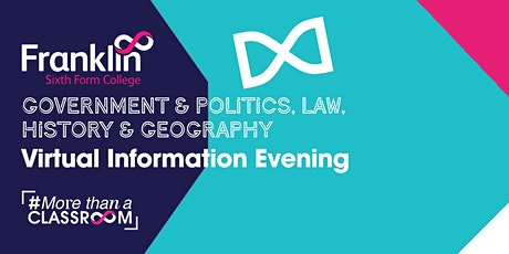 Franklin College Government & Politics, Law, History & Geography Evening tickets