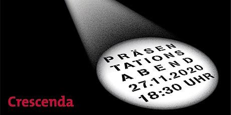 Crescenda Präsentationsabend 2020 (online) Tickets