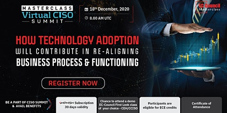 Masterclass Virtual CISO Webinar | Dec 18, 2020 tickets