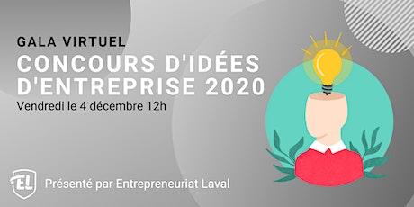 Gala Virtuel - Concours d'idées d'entreprise 2020 tickets
