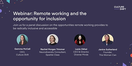 Remote working and the opportunity for inclusion tickets