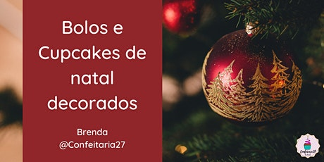Workshop Bolos e Cupcakes de natal decorados bilhetes