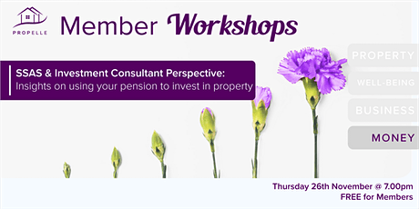PropElle Workshop | How to use your pension to invest in property tickets