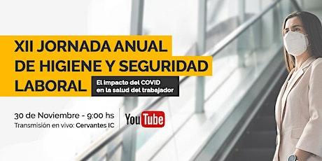 XII Jornada Anual de Higiene y Seguridad Laboral en Cervantes entradas