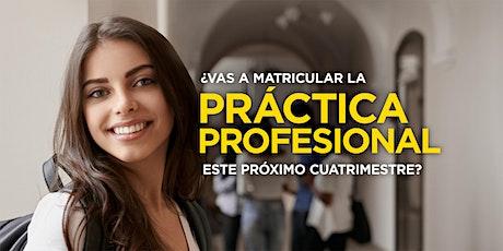 ¿Vas a matricular tu Práctica Profesional este próximo cuatrimestre? boletos