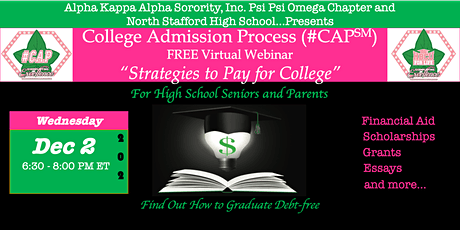 #CAP℠  Webinar - Strategies to Pay for College tickets