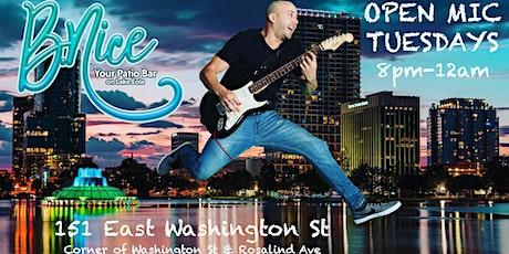 OPEN MIC NIGHT at B Nice Patio Bar (Downtown Orlando) tickets