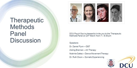 DCU Psychological Society - Therapeutic Methods Panel Discussion tickets