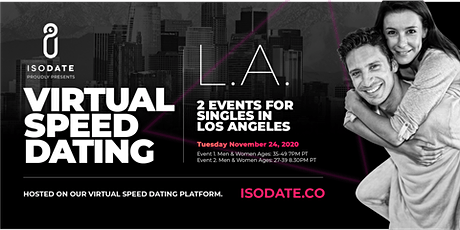 Isodate's Los Angeles Virtual Speed Dating tickets