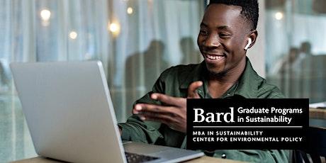 Bard Graduate Programs in Sustainability - Dec. Virtual Open House tickets