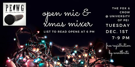 PEI Writers' Guild Open Mic & Xmas Mixer tickets
