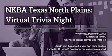 NKBA Texas North Plains: Virtual Trivia Night tickets