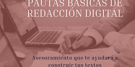 Pautas básicas de redacción digital boletos