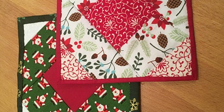 Hand Quilted Christmas Coaster tickets