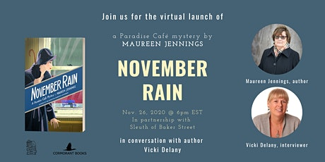 Virtual Launch: November Rain by Maureen Jennings tickets